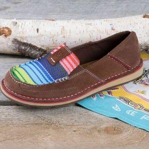 Ariat women's ladies cruiser rainbow stripe size 7 slip on flat shoe